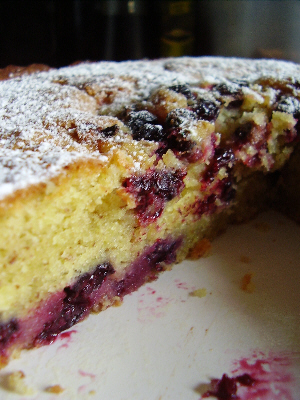 Blackcurrant Almond Cake