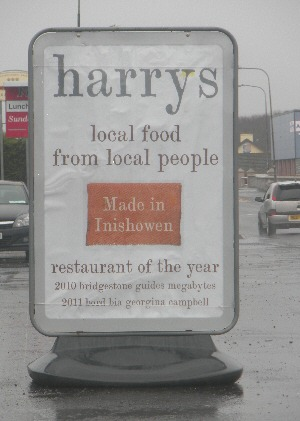 The sign for Harry's - don't miss it