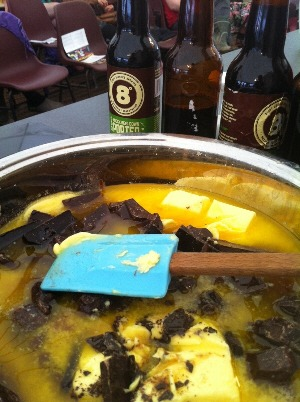 Baking with Eight Degrees Brewing beer: Chocolate and Knockmealdown Porter Brownies. pic courtesy of Lily Ramirez-Foran