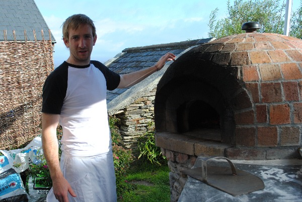 Firehouse Bakery Bread School - Patrick Ryan with his woodfired bread oven