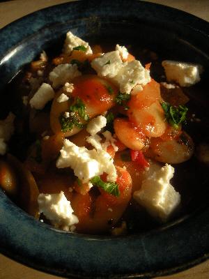 Greek Bean and Tomato Stew with Feta