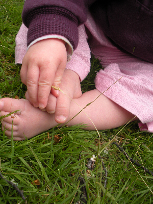 LM's feet in the grass