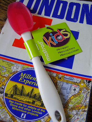 London A-Z with Little Missy's spatula
