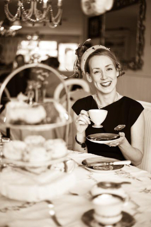 Sandra Dunlea of Miss Courtney's Tearooms
