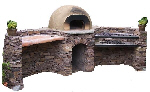 Wood-fired mud oven