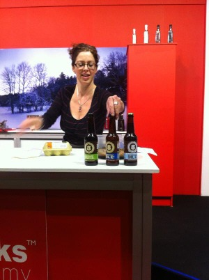 Caroline Hennessy @ Bibliocook demonstrating on the Cooks Academy stage in the RDS