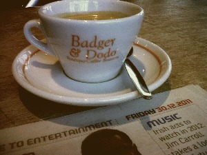 Badger and Dodo coffee at L'Atitude51° wine bar, Cork