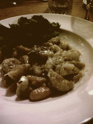 Gnocchi with brussels sprouts and broccoli at Gort na Nain